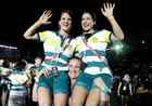 Athletes of Australia attend the closing ceremony. Reuters