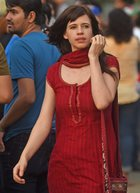 Bollywood actress Kalki Koechlin takes part in a protest demanding justice for the victims of Kathua and Unnao rape cases, in Mumbai, on April 15. PTI