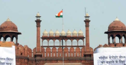 Historians protest Red Fort 'adoption'