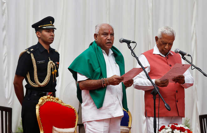 Yeddyurappa sworn in as Karnataka Chief Minister