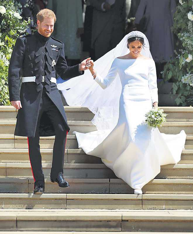Wedding Of Prince Harry And Meghan Markle.Just Married Prince Harry And Meghan Markle Declared Husband And Wife