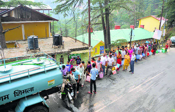 Thirsting for water in Shimla