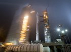 Vandenberg Air Force Base : Vandenberg Air Force Base: In this photo released by NASA, the mobile service tower at SLC-3 is rolled back to reveal the United Launch Alliance (ULA) Atlas-V rocket with NASAs InSight spacecraft onboard, on May 4, 2018, at Vandenberg Air Force Base in Calif. AP/PTI