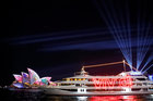 Light projections on the sails of the Sydney Opera House are seen during the official start of Vivid Sydney, promoted as the world's largest festival of light, music and ideas, in Sydney, Australia, on May 25, 2018. Reuters photo