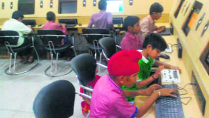 Digital Braille for visually  impaired in Sirsa school