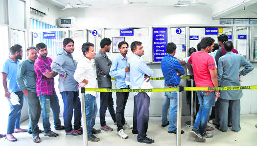 Paying traffic challans uphill task