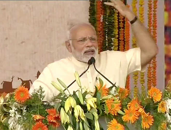 Development is the only answer to violence, says PM Modi
