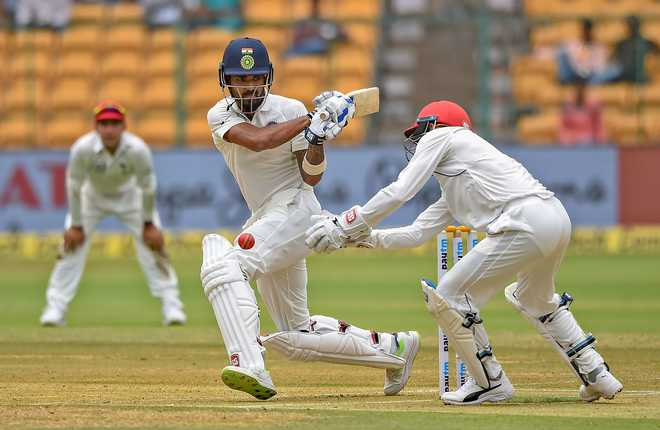 Afghan bowlers make comeback after Vijay, Dhawan tons take India to 347/6