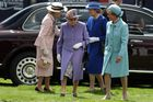 Britain's Queen Elizabeth II arrives on the second day of the Epsom Derby Festival in Surrey, southern England, on June 2, 2018. AFP photo