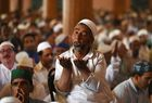Muslims pray during the last Friday of the holy month of Ramadan at Kashmirs grand mosque Jamia Masjid in downtown Srinagar on June 8, 2018. AFP photo