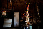 Pareci Indian Chief Narciso Kazoizax stands inside his house in Indian reservation, near Campo Novo do Parecis, Brazil, on April 25, 2018. Reuters photo