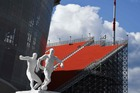 A picture taken on June 12, 2018 shows a general view of the tribune of the Ekaterinburg Arena stadium in Yekaterinburg, ahead of the Russia 2018 World Cup football tournament. AFP photo
