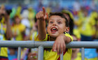 Colombia fans inside the stadium before the match. Reuters