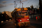 A trolley car drives through Volgograd, Russia, June 26, 2018. Reuters