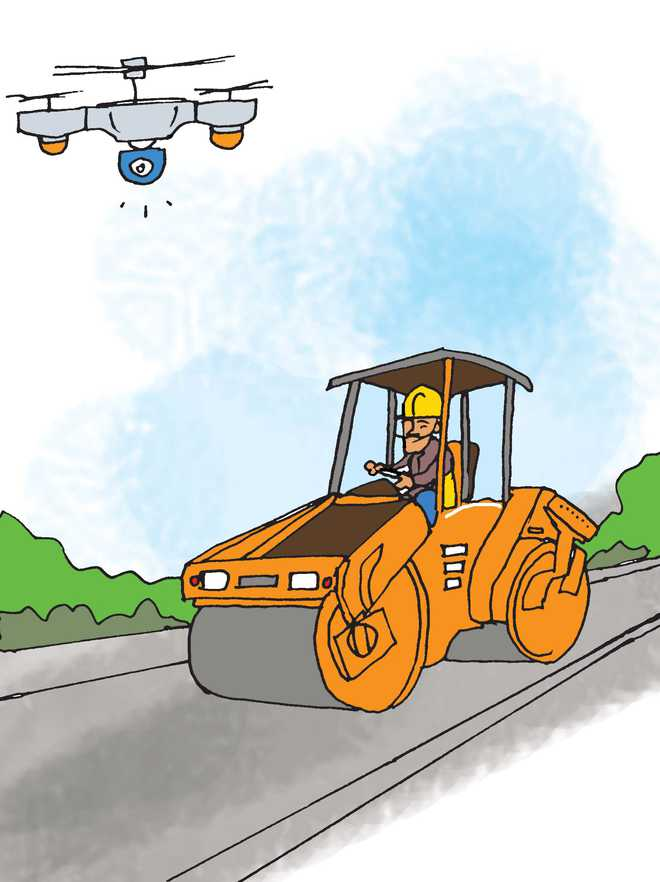 Drones to monitor progress of highways' construction