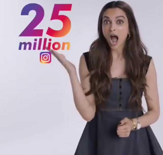 Deepika Padukone hits 25 million follower mark on Instagram; sends social media in a tizzy