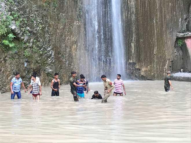 7 die, 31 hurt as rock falls on devotees at Reasi waterfall