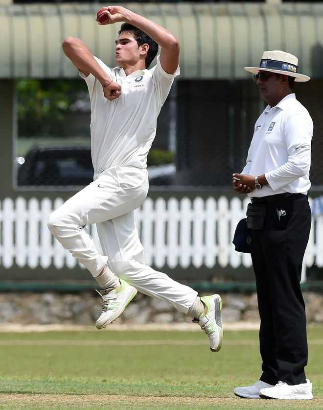 Arjun Tendulkar strikes for India Under-19s