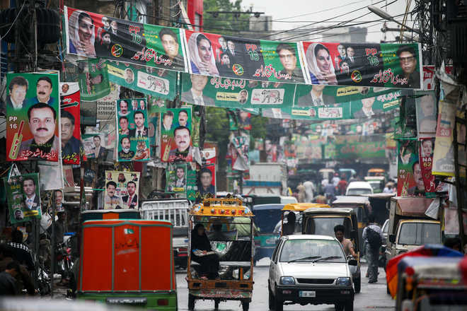 Image result for by poll campaign ends in Pakistan