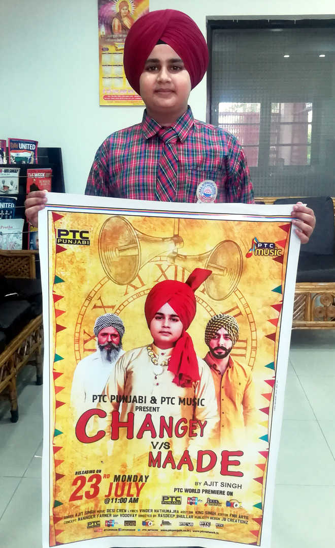 Boy's song on social evils a hit