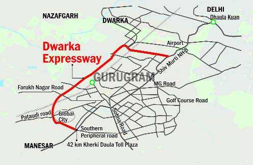 dwarka expressway route map Dwarka Expressway To Reduce Gurugram To Igia Travel Time dwarka expressway route map