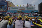 Spectators at the annual Nathans Hot Dog Eating Contest, in Brooklyn, New York City, US, July 4. Reuters