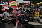 The annual Nathans Hot Dog Eating Contest in Brooklyn, New York City, US, July 4. Reuters