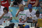Competitive eater Miki Sudo competes in the annual Nathans Hot Dog Eating Contest in Brooklyn, New York City, US, July 4. Reuters