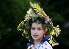Belarusian people take part in the Ivan Kupala festival in Belarusian state museum of folk architecture and rural lifestyle near the village Aziarco, Belarus, on July 7, 2018. Reuters