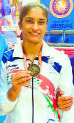 Vinesh grabs gold in Spain GP