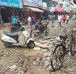 Govt apathy: Road leading to Rainak Market in a dilapidated state