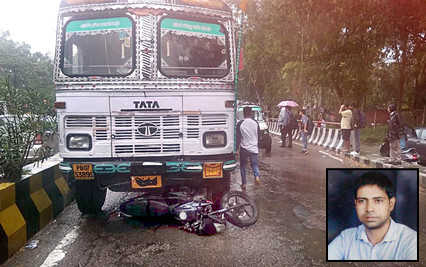 Man crushed to death by speeding truck