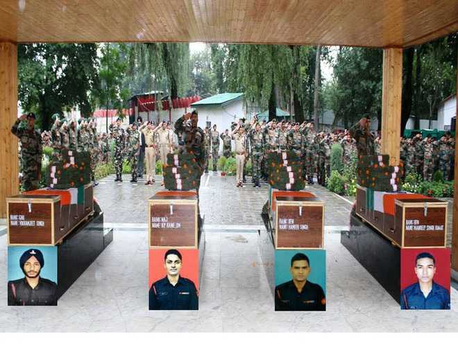 Army pays tribute to four soldiers killed in Gurez