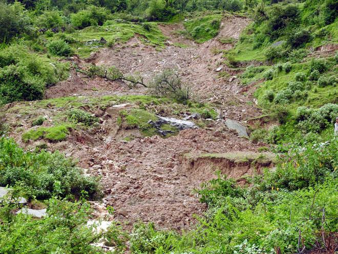 Landslide in Dharamsala village, 8 houses damaged