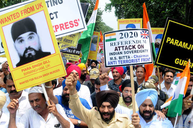 Protests held outside UK mission against anti-India SFJ rally
