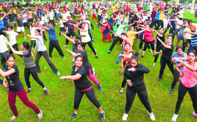 People from all walks of life attend fitness workshop