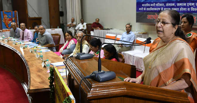 LS Speaker lauds women, terms them good managers