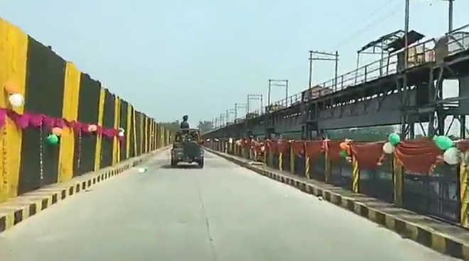 A bridge in Hussainiwala