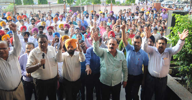 PNB employees protest against management
