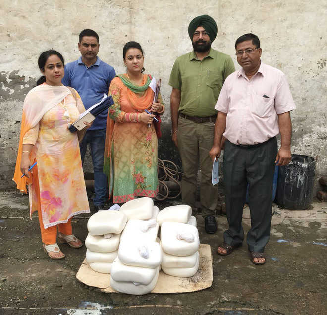 Health team collects 12 samples of food products
