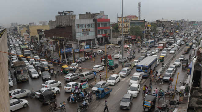 Zirakpur roads clogged, traffic affected