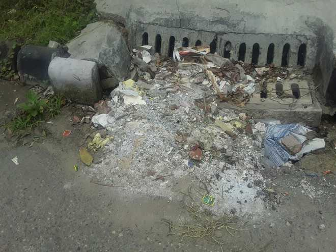 Blocked storm water drains
