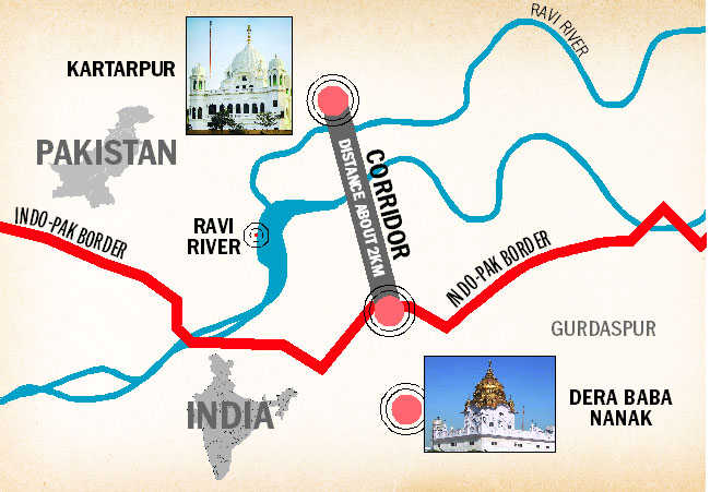 Image result for kartarpur corridor