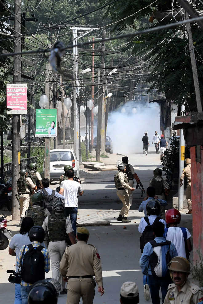 Protests erupt across Kashmir over rumours of Article 35A