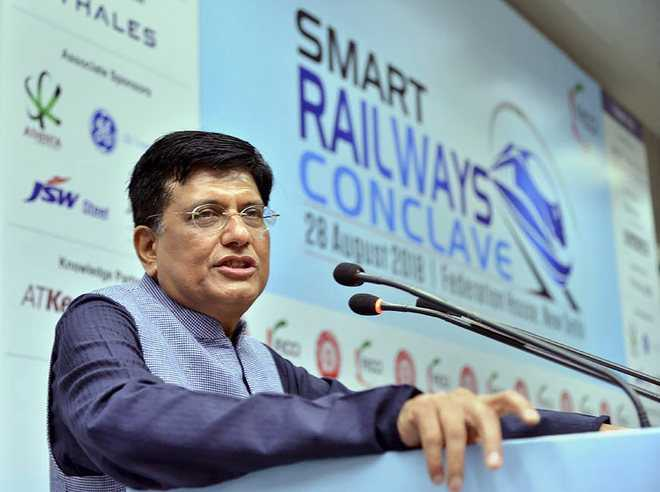 Goyal: Rlys to soon become smart, safe