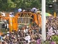 Vajpayee's final journey: PM Modi, Rajnath Singh join sea of mourners