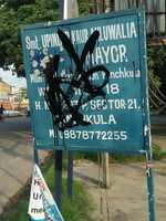 Board with ex-mayor's name smeared in P'kula