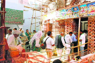 A Pehowa temple  with a difference