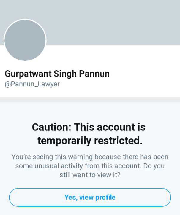 Twitter blocks Sikhs for Justice legal adviser Pannun's account