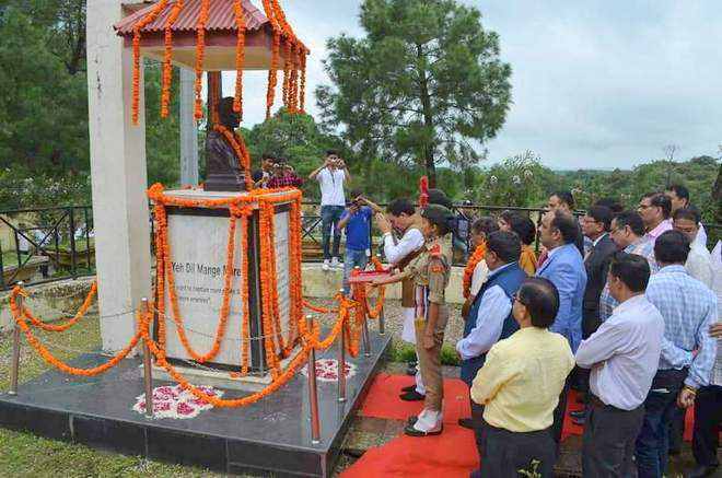 Martyr's statue unveiled in Palampur